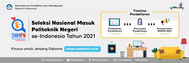 Login Portal snmpn.politeknik.or.id, Simak Cara Registrasi Seleksi Politeknik Negeri 2021