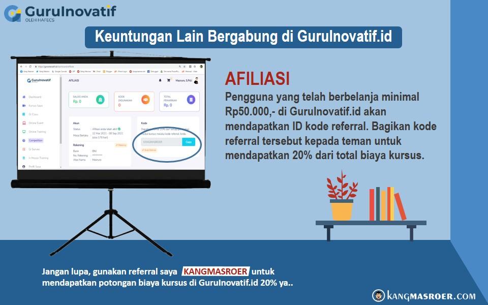Program afiliasi GuruInovatif.id