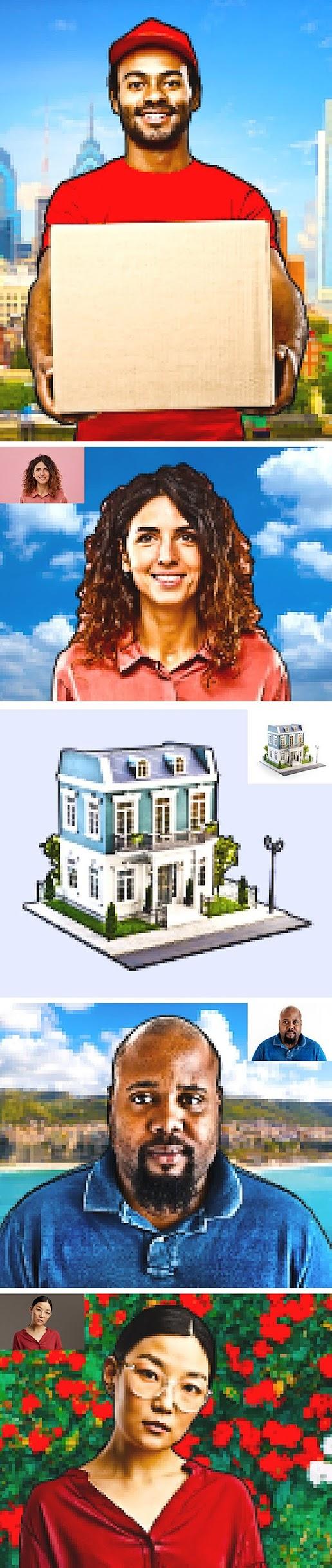 8 Bit Pixel Art Photoshop Action 27617633 Free