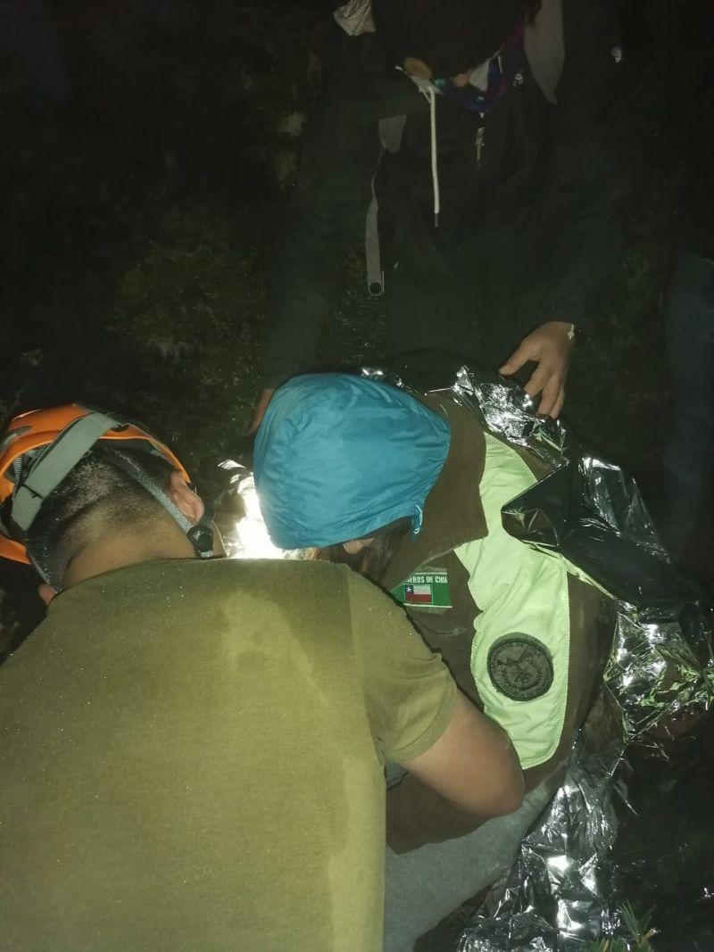 Rescate de 5 personas en el Cerro Pico Toribio