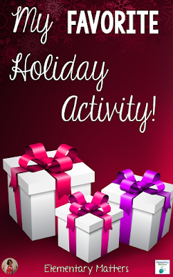"My Favorite Holiday Activity: Ever have one of those activities that are a ""win-win""? It's fun, it's easy, and it's also educational? This is my favorite freebie"