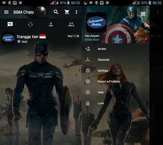 BBM MOD Captain America v2.13.1.14 Apk Gratis