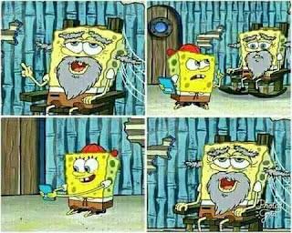Polosan meme spongebob dan patrick 8 - Spongebob jadi tua dan punya cucu