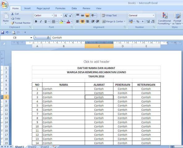 Cara Membuat Print Titles Pada MS Excel - KemejingNet