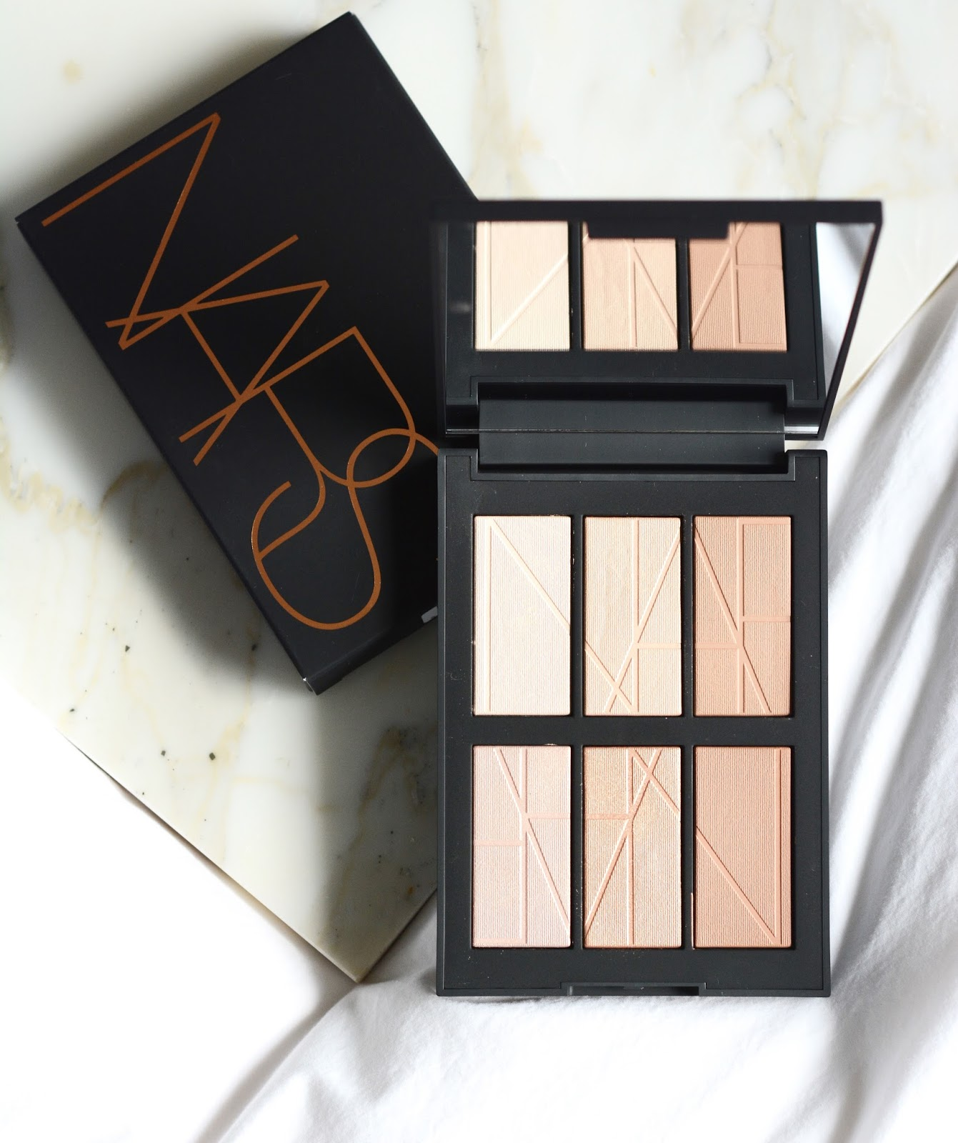 NARS Bord de Plage Highlighting Bronzing Palette swatches review photos face look
