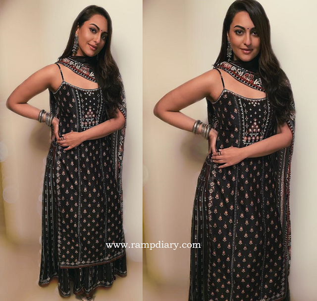 Sonakshi Sinha in Anita Dongre for Dabangg 3 Promotions