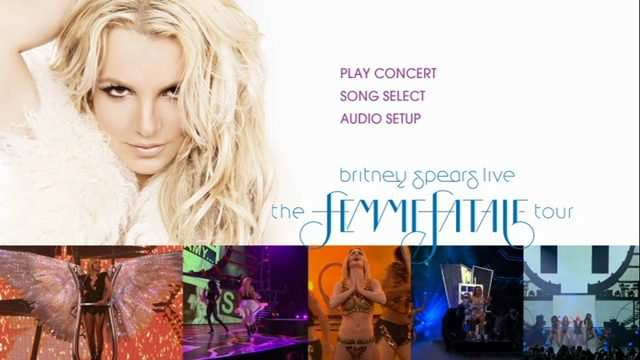 Britney Spears Femme Fatale Tour 2011 DVDR Menu Full DVD5 Descargar NTSC