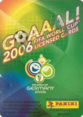 Football Cartophilic Info Exchange Panini Goaaal 2006 Fifa World Cup 03 Brazil Version