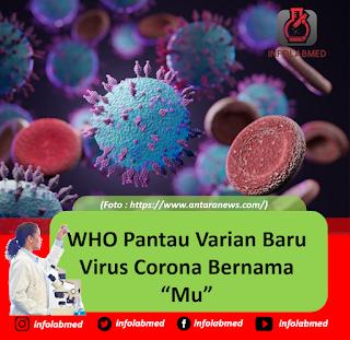 """WHO Pantau Varian Baru Virus Corona Bernama """"Mu"""""""