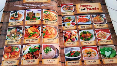 daftar menu bali ndeso resto karanganyar
