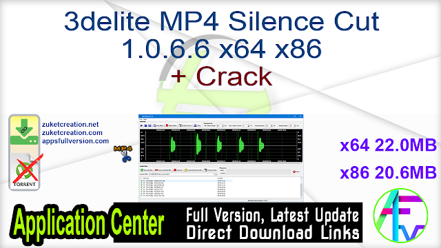 3delite MP4 Silence Cut 1.0.6.6 x64 x86 + Crack