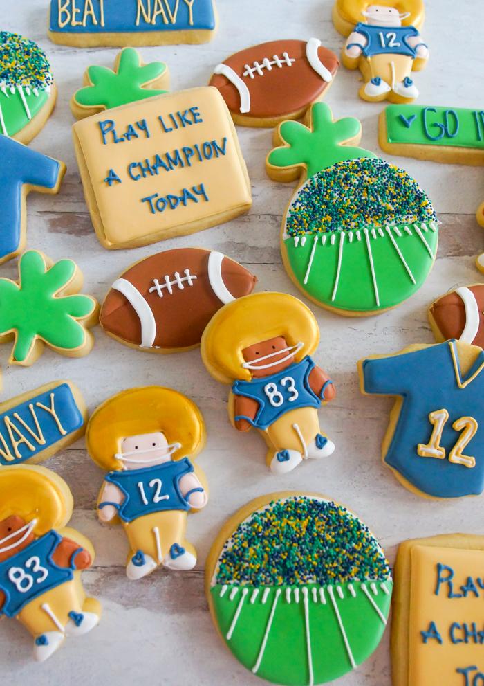 Notre Dame Football Cookies   bakeat350.net