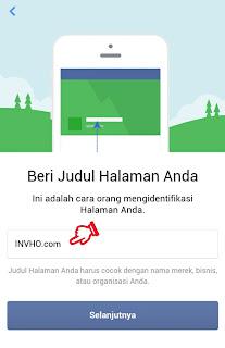 Judul Halaman atau Fanspage Facebook