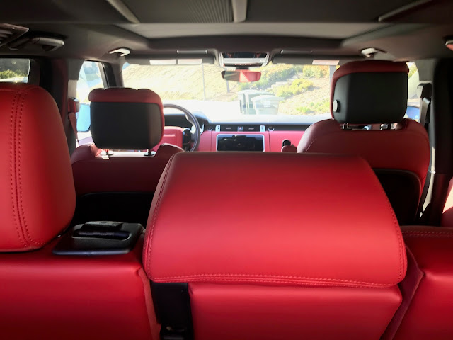 Interior view of 2019 Range Rover Sport HST MHEV