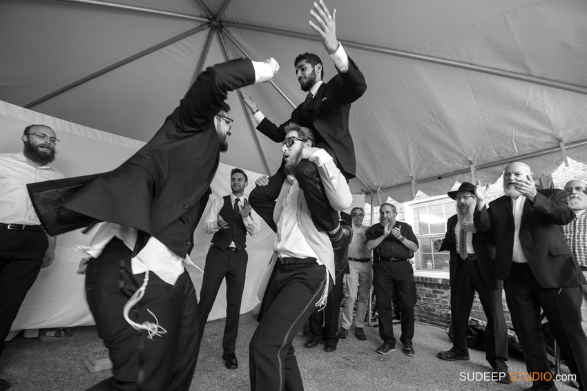 Orthodox Jewish Wedding Photography Best Dancing by SudeepStudio.com Ann Arbor Wedding Photographer