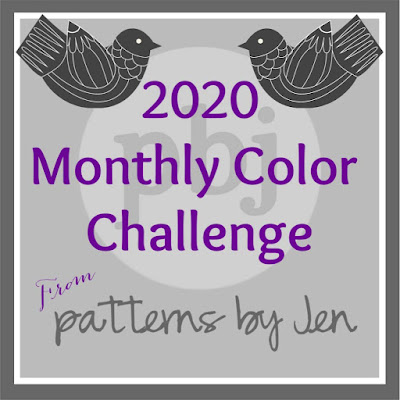 2020 monthly color challenge button