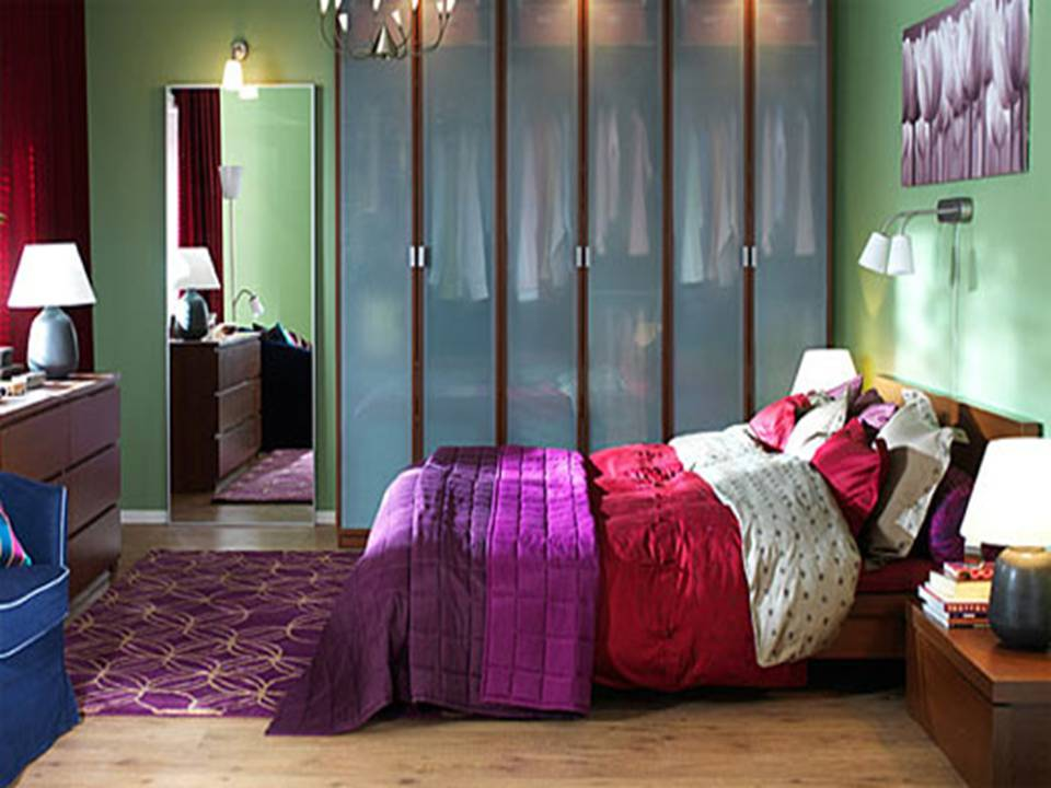 Small Room Decoration: Modern IKEA Small Bedroom Design And Decoration Ideas