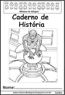 Capa caderno história Homem Aranha