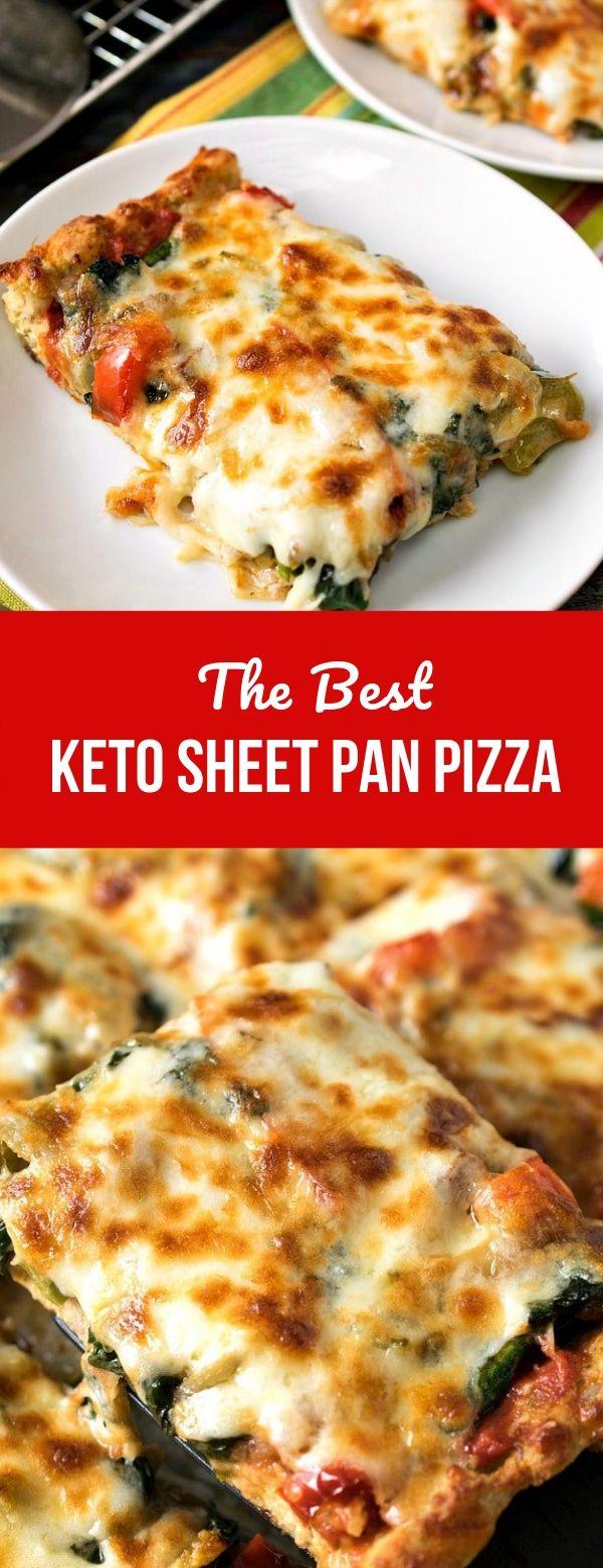 The Best Keto Sheet Pan Pizza