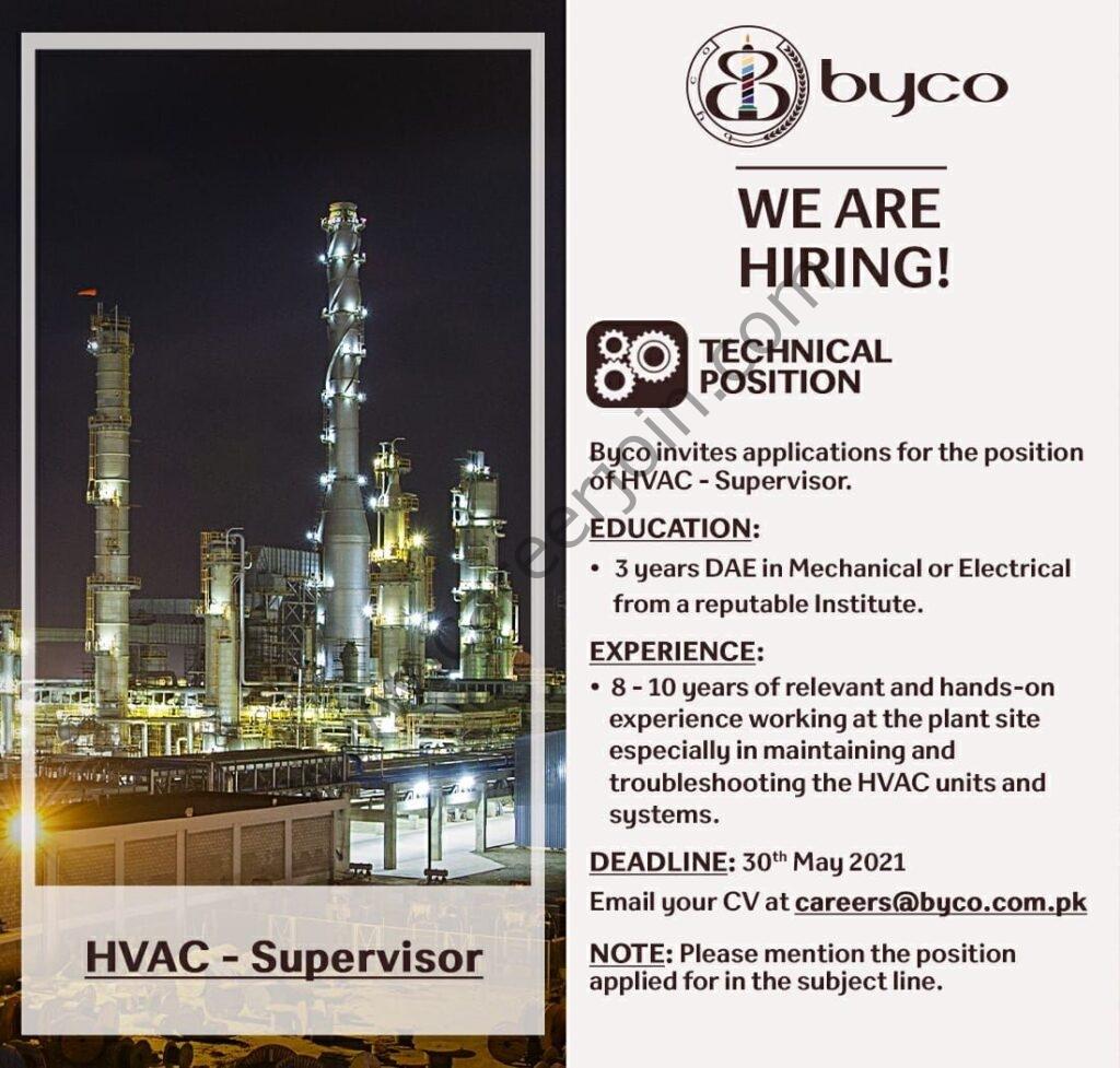 Byco Petroleum Pakistan Ltd Jobs 2021 in Pakistan