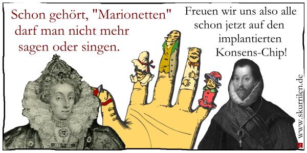 Kunstfreiheit, Medien, Presse, Satire, Comic, Cartoon, Meinungsfreiheit, Demokratie, Xavier Naidoo, Söhne Mannheims, Marionetten, Song, Lied