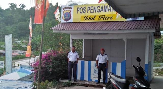 Pospam PT. STTC terlihat di Pelabuhan Tigaras Simalungun (Foto: Lintaspublik.com / Wartagas.com