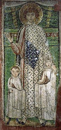 Saint Demetrius with children,Saint Demetrius Church, Thessaloniki