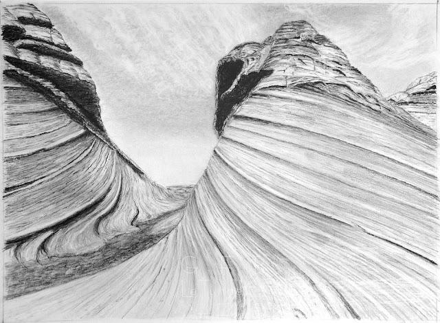 Cours de dessin Ateliers LT37 - Jean-Pierre M - Strates - dessin crayon graphite  -  st cyr sur loire      tours       amboise      langeais       37270         chambray les tours