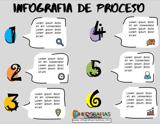 Plantilla de infografía de proceso en PowerPoint 10