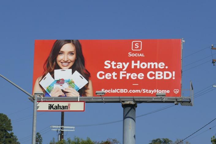 Stay home Social CDB billboard