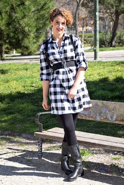 Outfit-Vestido-Camisero-cuadros-2