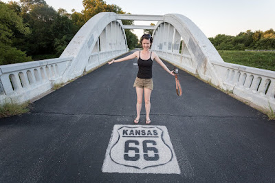 Bridge on route 66 outside Baxter Springs Kansas_by_Laurence Norah
