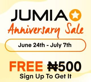 Jumia 4th year anniversary is here!, Sign up and get 500 Naira for free