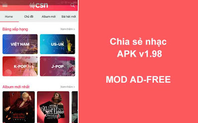 Chia sẻ nhạc V1.98 Ad-Free
