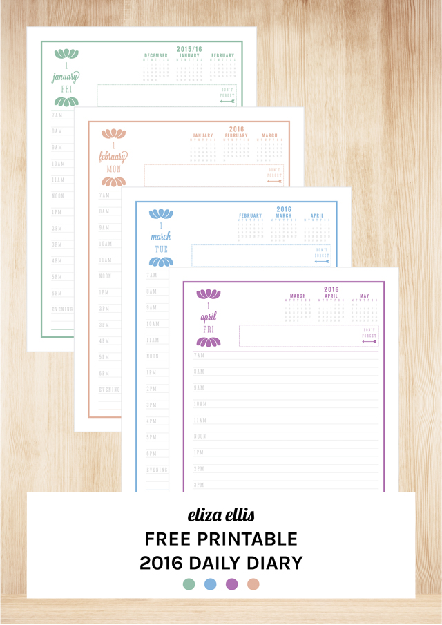 Free Printable Daily Journal Pages – Diary Paper Printable