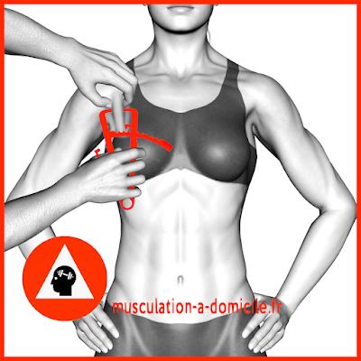 mesure poitrine femme pince à plis cutanés adipomètre musculation fitness