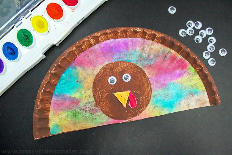 paper plate turkey thanksgiving craft for kids
