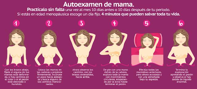 auto examen seno mujeres