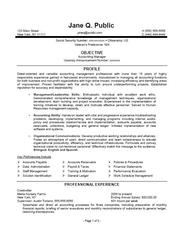 Federal Job Resume Samples Sample Resumes - federal job resume samples