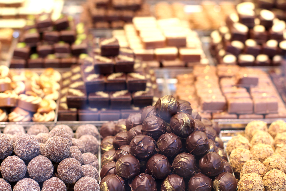 Chocolates at Cologne Christmas market - travel & lifestyle blog