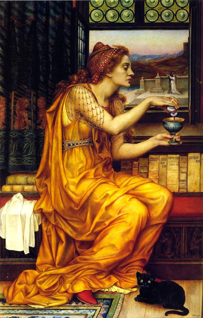 """Poção do Amor"" pintura de Evelyn de Morgan, 1903"