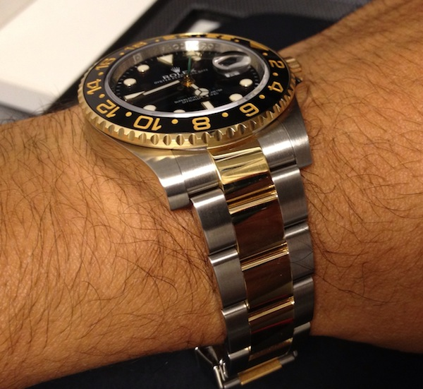 Rolex GMT-Master II 40 mm Yellow Gold watch replica ref. 116713 LN