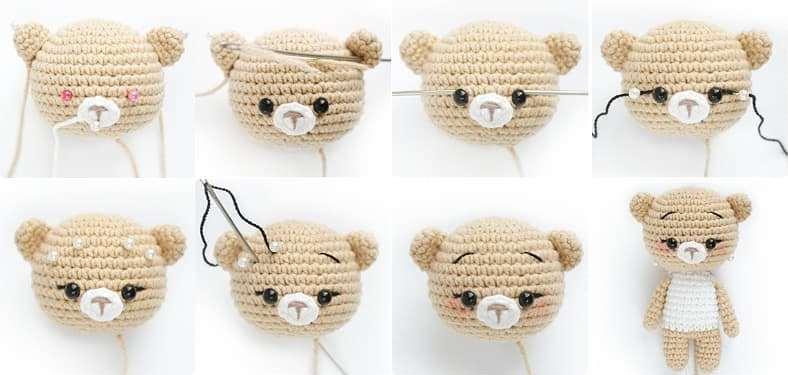 Crochet bear tutorial