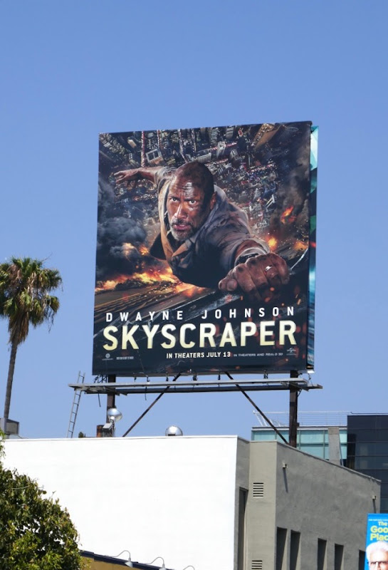 Skyscraper film billboard