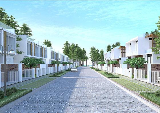 duong noi khu biet thu Zenna Villas resort