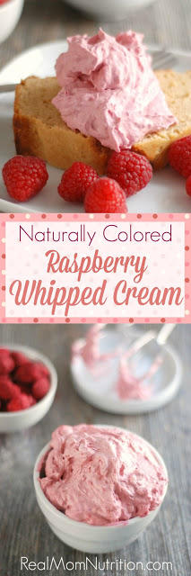 NATURALLY COLORED RASPBERRY WHIPPED CREAM