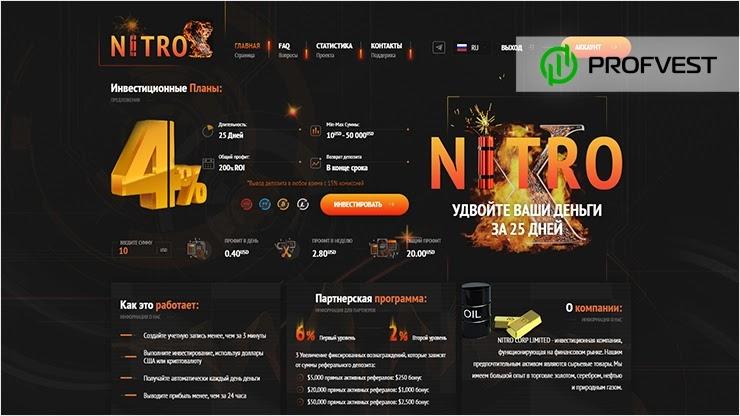 Nitro-X обзор и отзывы HYIP-проекта