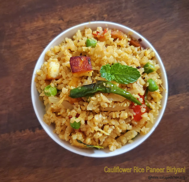 images of Cauliflower Rice Paneer Biriyani / Paneer Biriyani / With Cauliflower Rice / Cauliflower Rice Biriyani / Cauliflower Rice Biryani