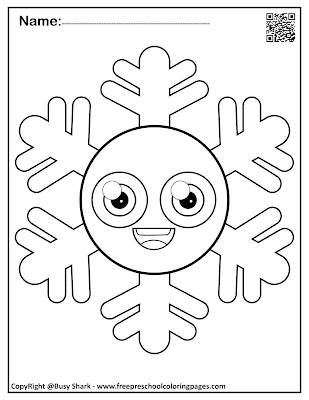 snowflakes with basic shapes preschool coloring pages ,free printables for kids ,circle