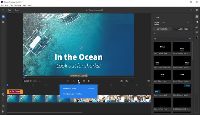 تنزيل برنامج تعديل الفيديوهات Adobe Premiere Rush CC 2020